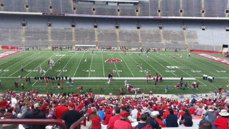 Seating view for Camp Randall Stadium Section t Row 57 Seat 36