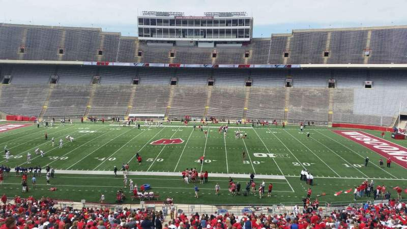Seating view for Camp Randall Stadium Section s Row 57 Seat 36
