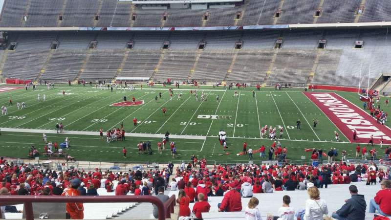 Seating view for Camp Randall Stadium Section r Row 57 Seat 36