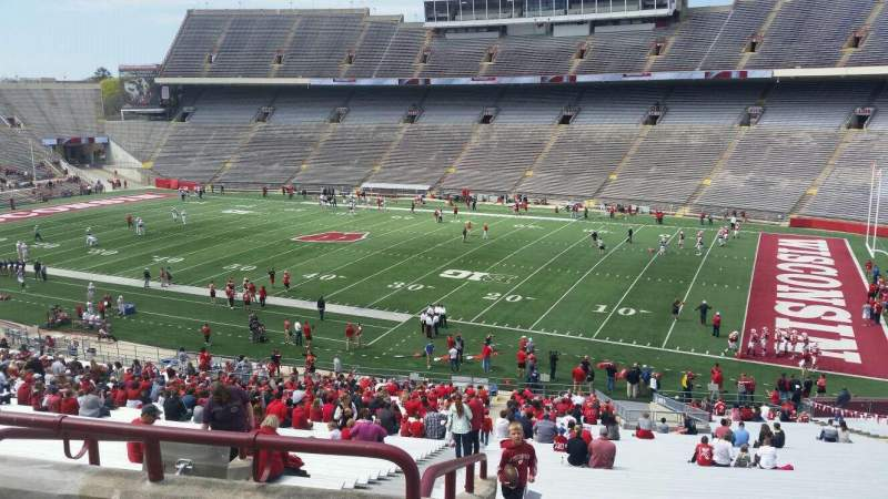 Seating view for Camp Randall Stadium Section q Row 57 Seat 36
