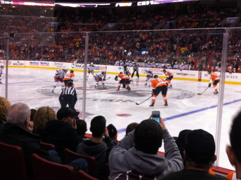 Seating view for Wells Fargo Center Section 114 Row 5 Seat 19