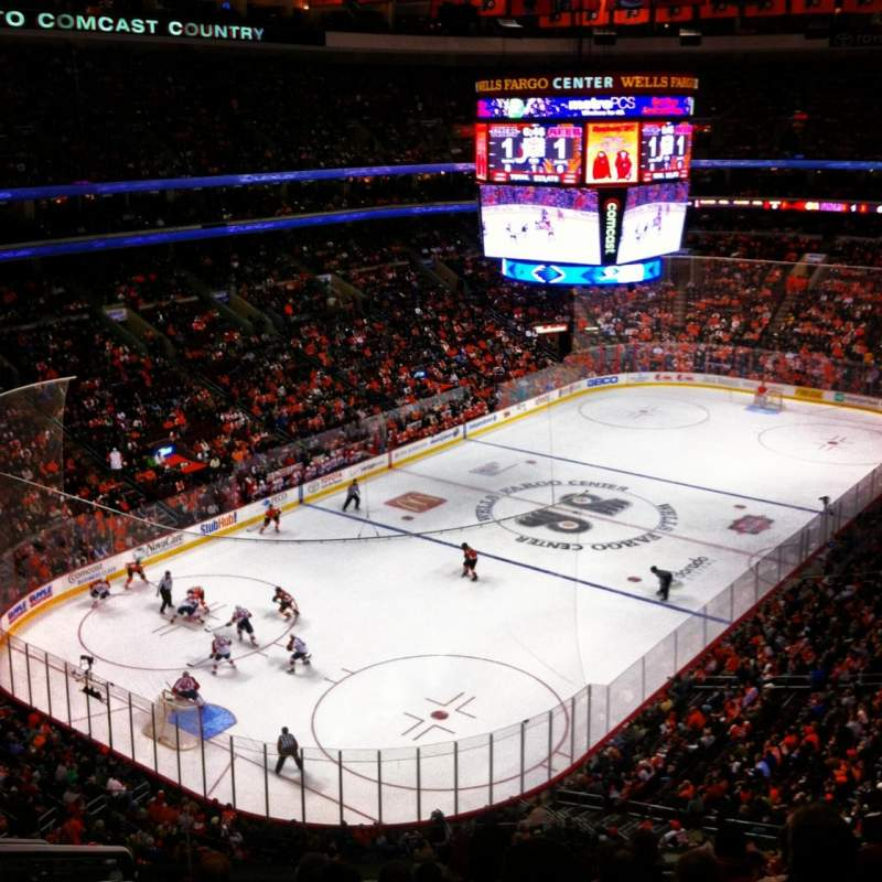 Seating view for Wells Fargo Center Section 209a Row 8 Seat 3