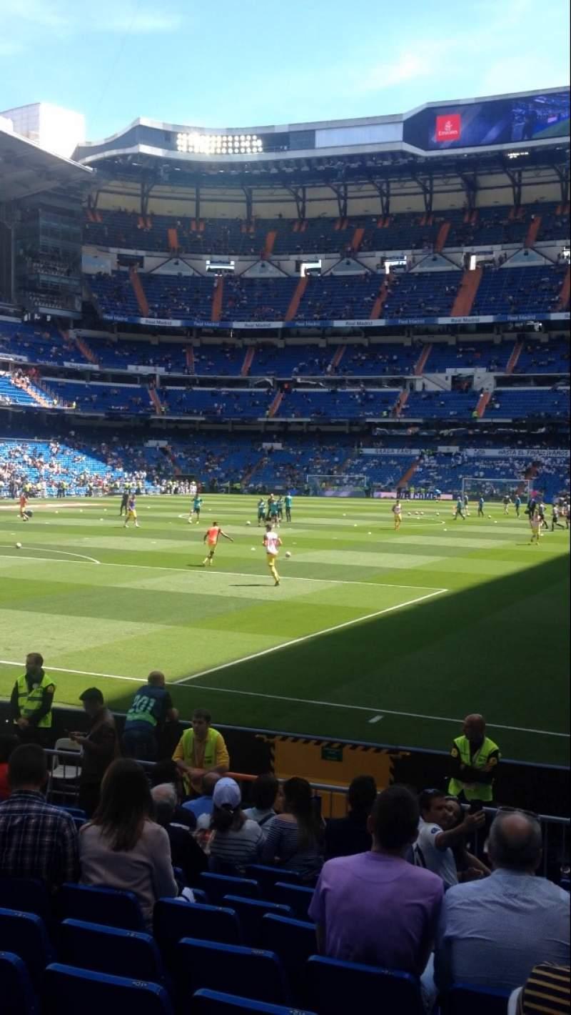 Seating view for Santiago Bernabéu Stadium Section 113 Row 15 Seat 18
