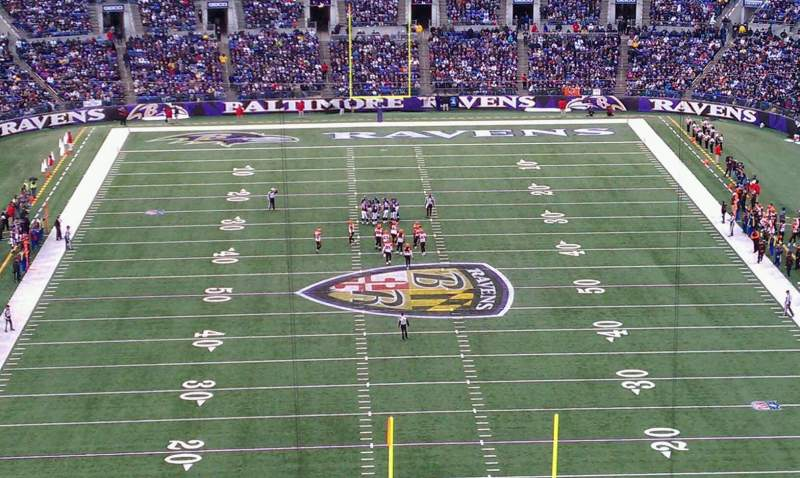 Seating view for M&T Bank Stadium Section 513