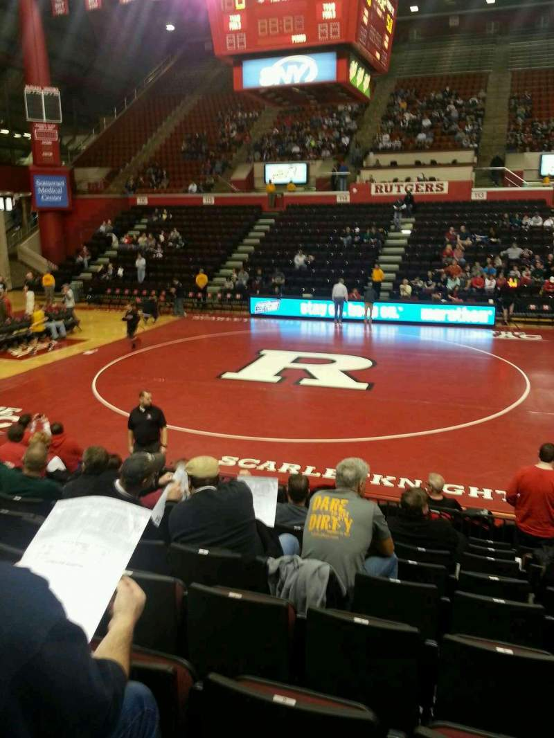Seating view for Louis Brown Athletic Center Section 104 Row J Seat 5
