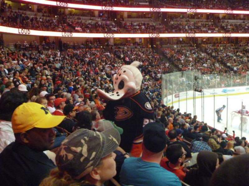 Seating view for Honda Center Section 227 Row Q Seat 9
