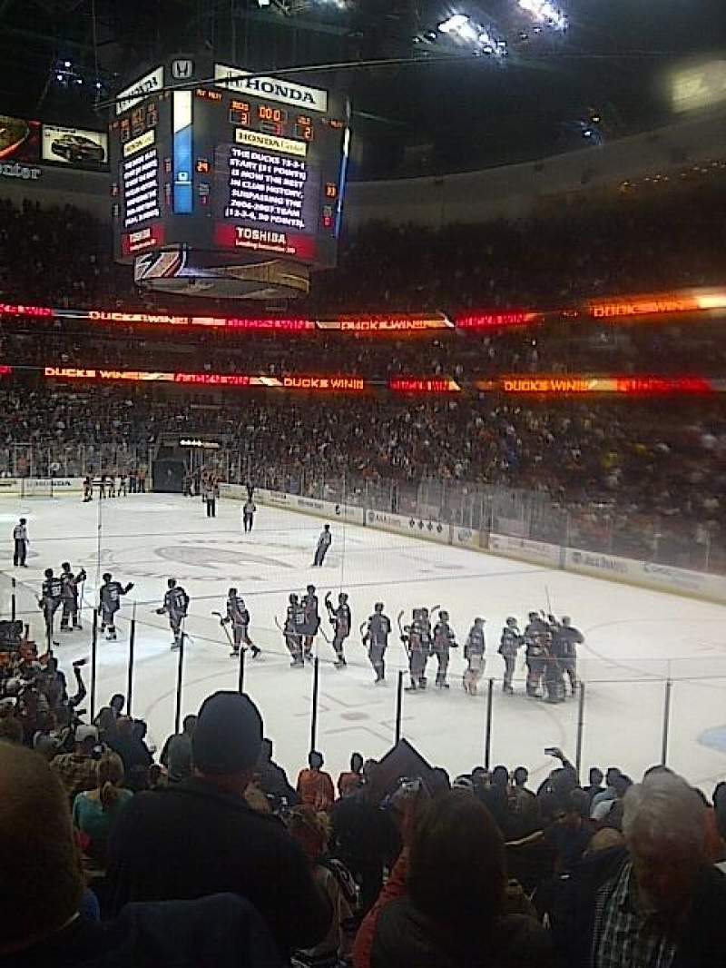 Seating view for Honda Center Section 203 Row R Seat 14