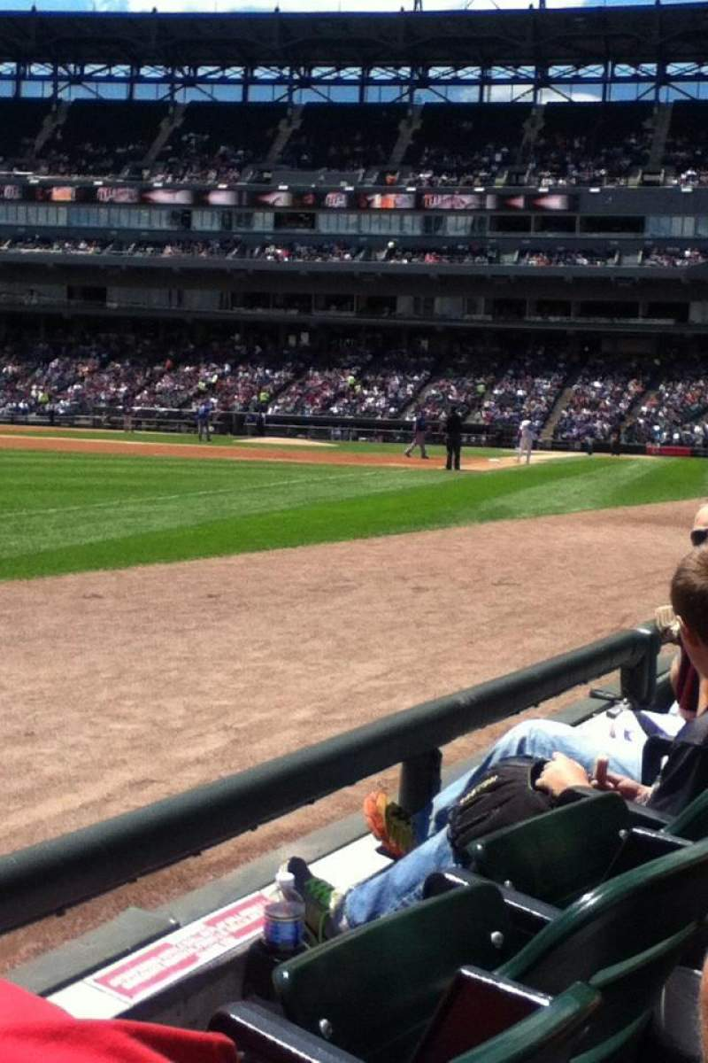 Seating view for Guaranteed Rate Field Section 149 Row 1 Seat 10