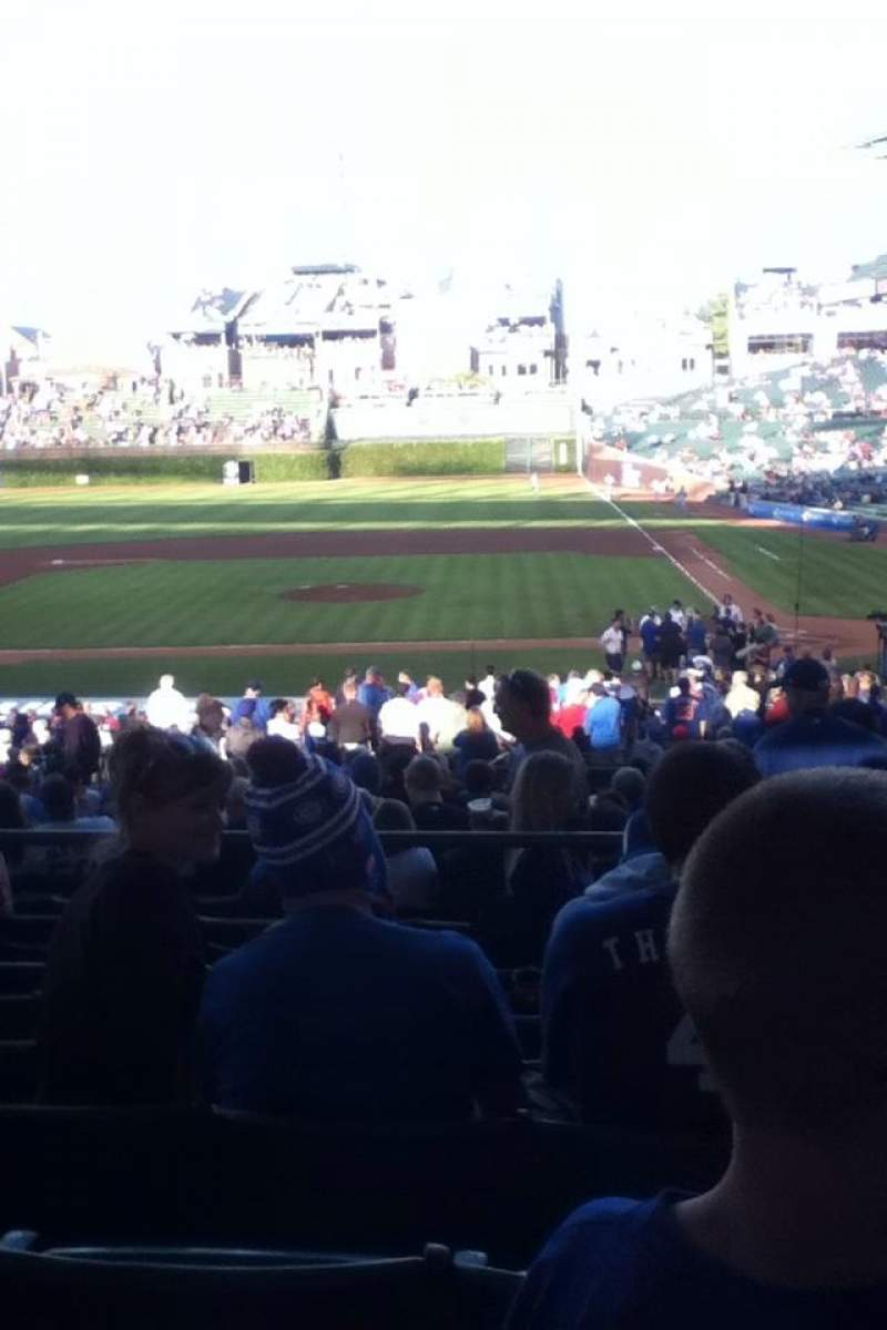 Seating view for Wrigley Field Section 216 Row 6 Seat 110