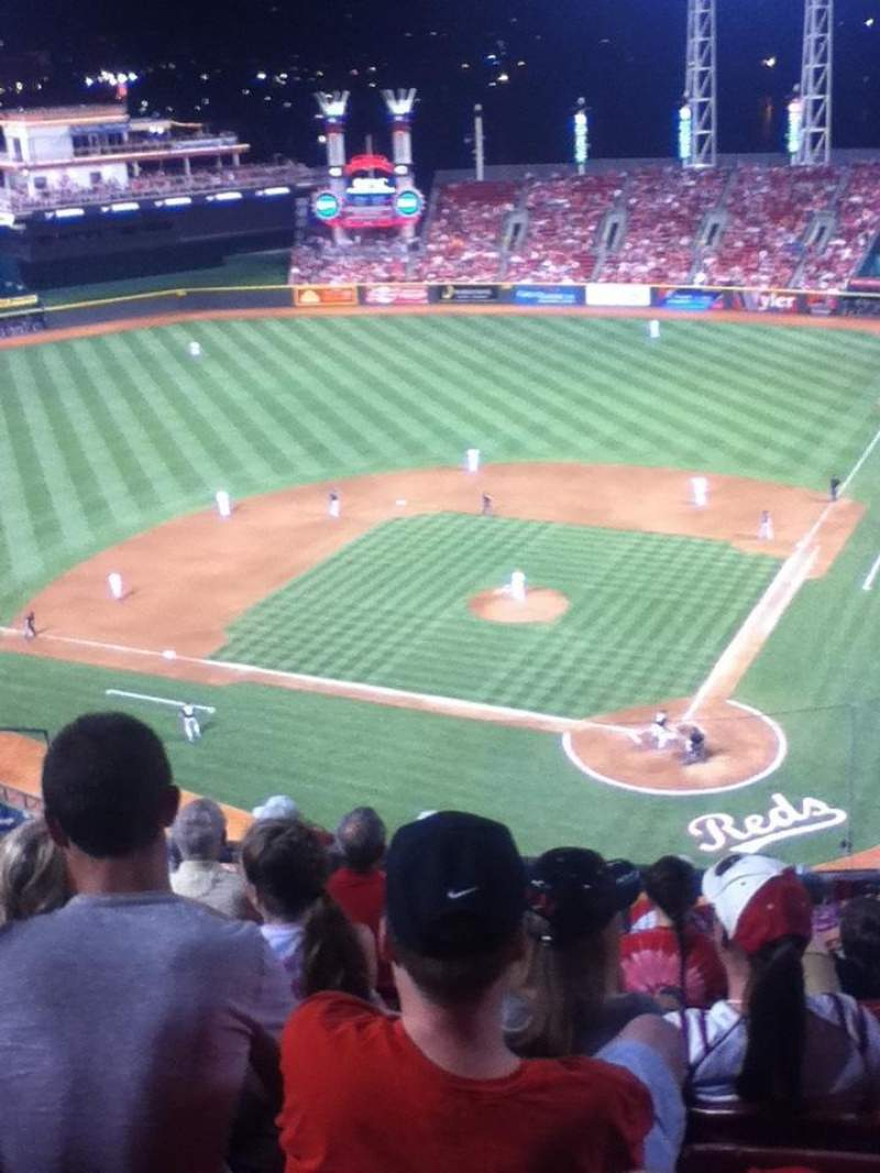 Seating view for Great American Ball Park Section 521 Row F Seat 12