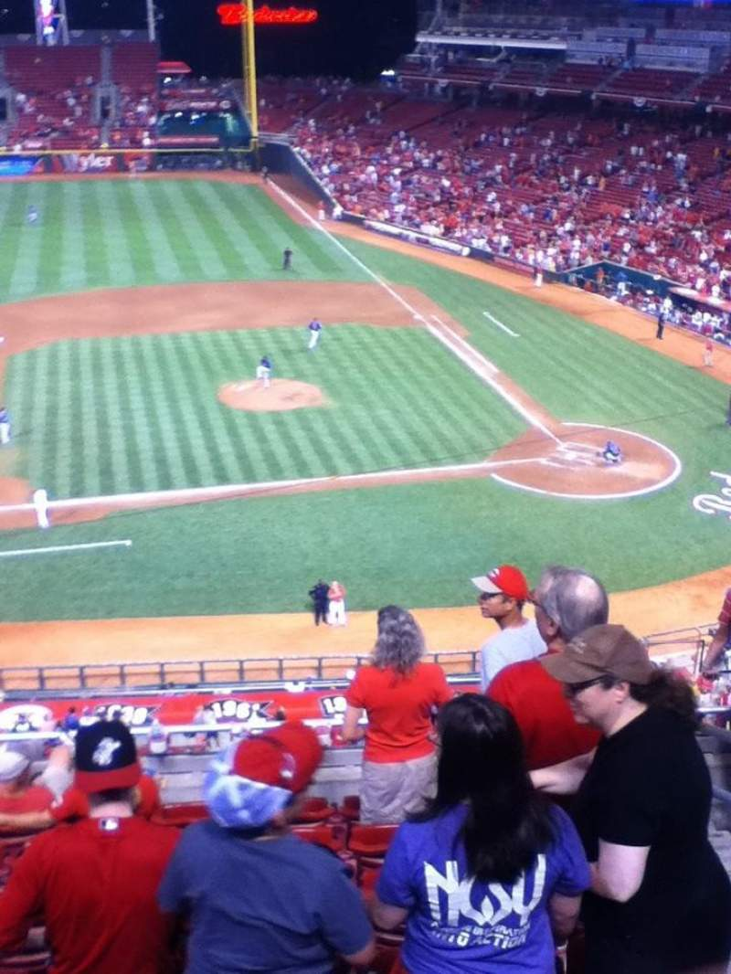 Seating view for Great American Ball Park Section 417 Row H Seat 3