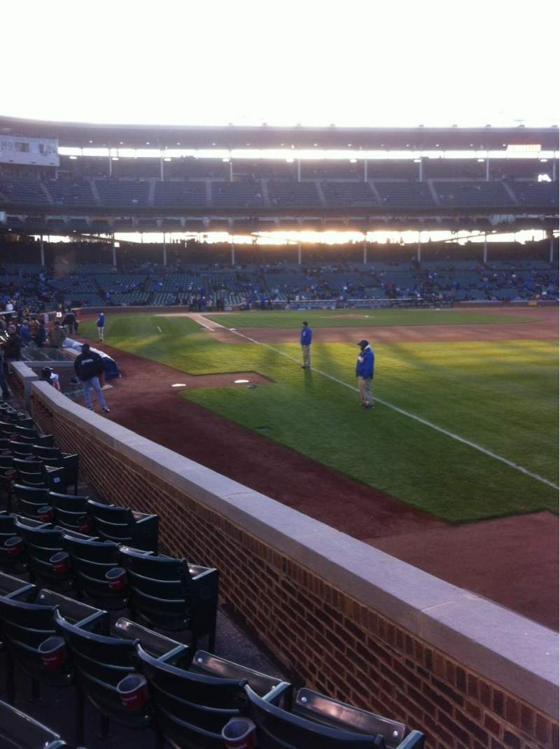 Seating view for Wrigley Field Section 38 Row 9 Seat 13