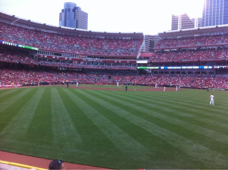 Seating view for Great American Ball Park Section 144 Row D Seat 7
