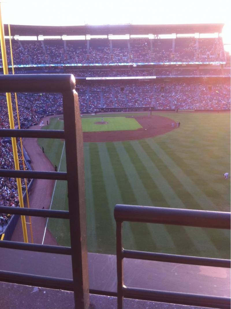 Seating view for Turner Field Section 433 Row 1 Seat 1