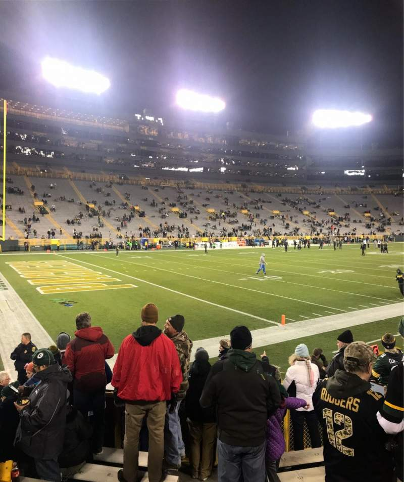 Lambeau Field, section: 131, row: 9, seat: 1