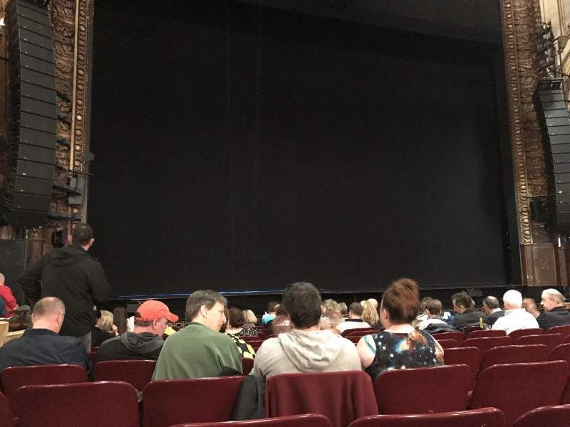 Seating view for Palace Theatre (Broadway) Section Orchestra Row L Seat 199