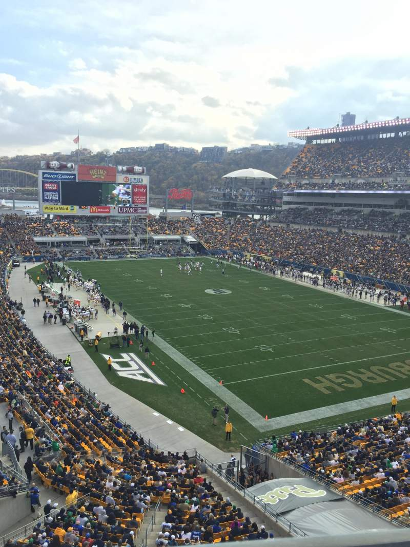 Seating view for Heinz Field Section 518 Row A Seat 7