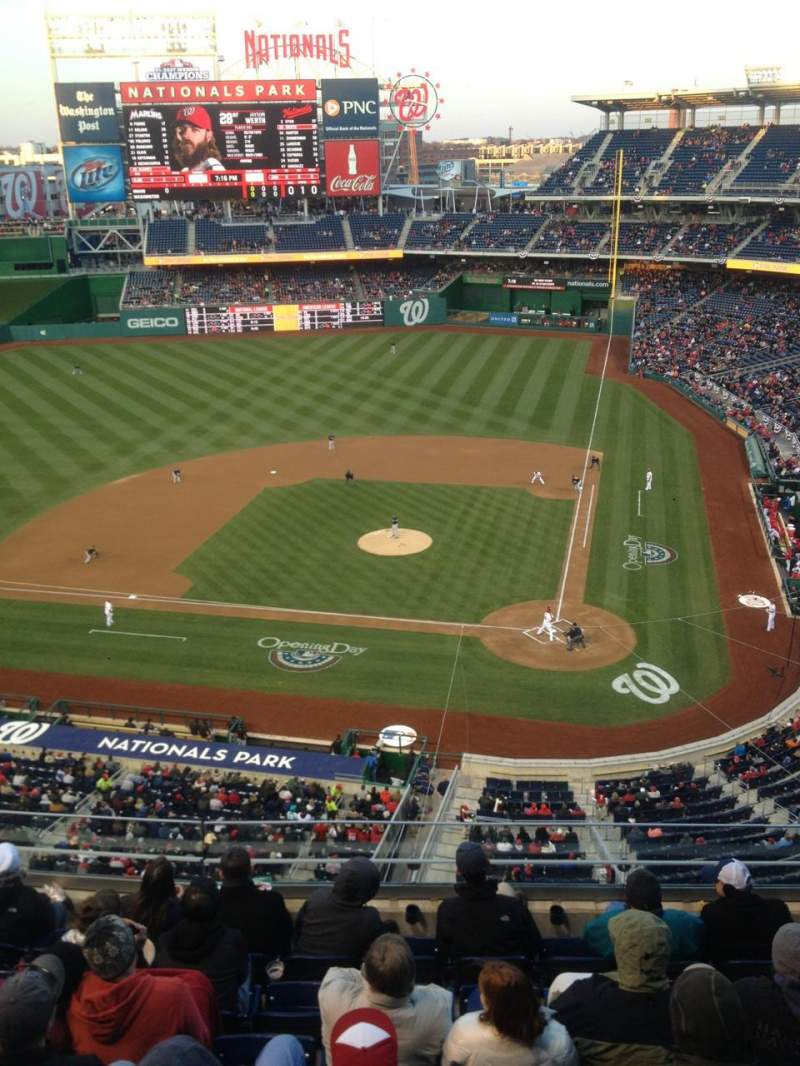 Seating view for Nationals Park Section 310 Row J Seat 5