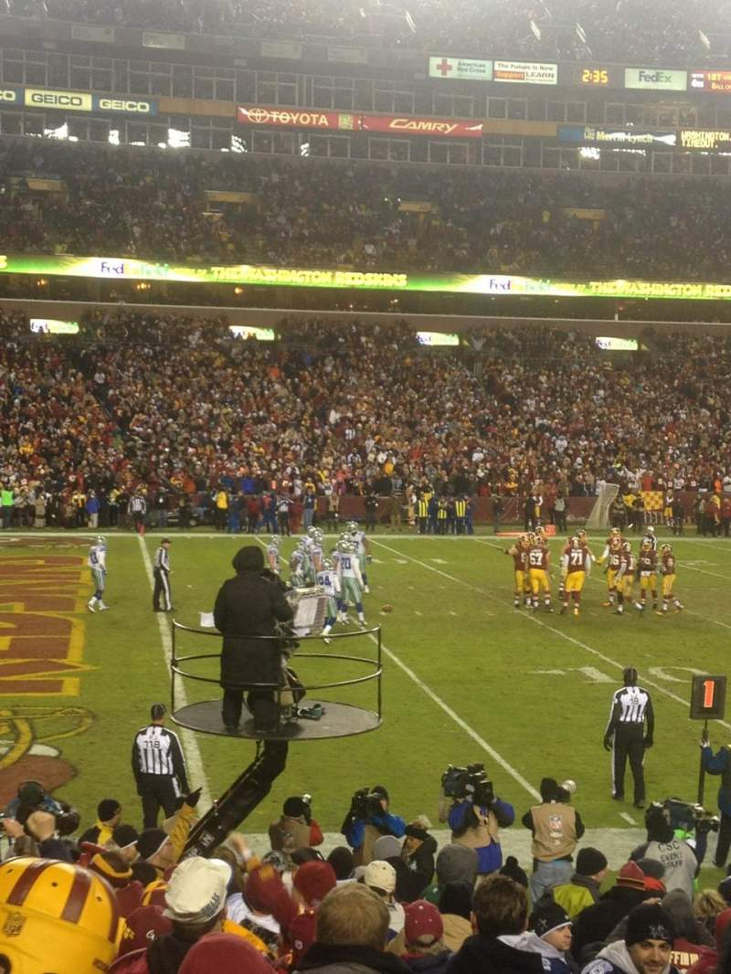 Seating view for FedEx Field Section 126 Row 13 Seat 1