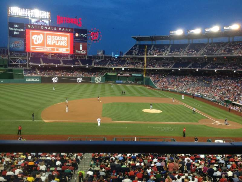 Seating view for Nationals Park Section 208 Row A Seat 11