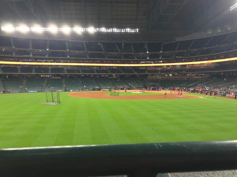 Seating view for Minute Maid Park Section 100 Row 1 Seat 10