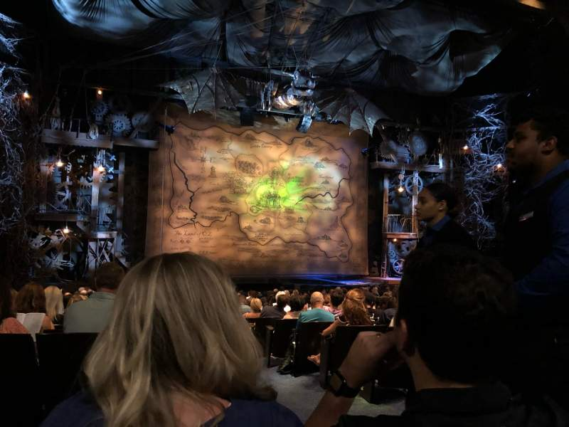 Seating view for Gershwin Theatre Section Orch Row R Seat 1