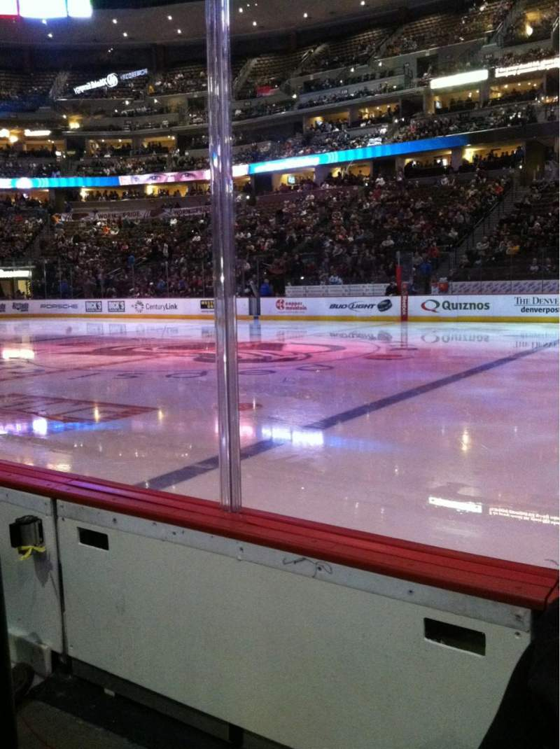 Seating view for Pepsi Center Section 124 Row 1 Seat 18