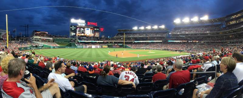 Seating view for Nationals Park Section 113 Row FF