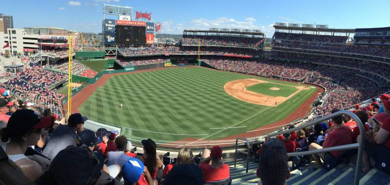 Seating view for Nationals Park Section 302 Row F