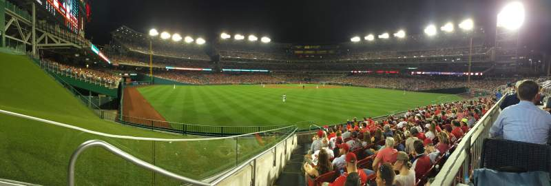 Seating view for Nationals Park Section Red Porch Row 1