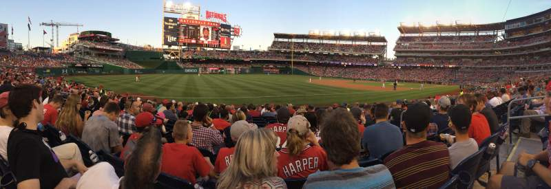 Seating view for Nationals Park Section 111 Row P