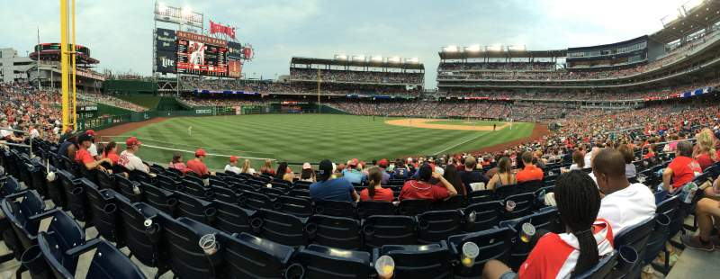 Seating view for Nationals Park Section 108 Row CC