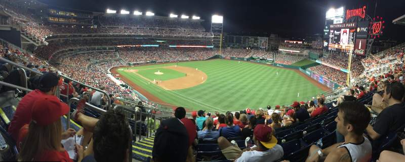 Seating view for Nationals Park Section 226 Row N