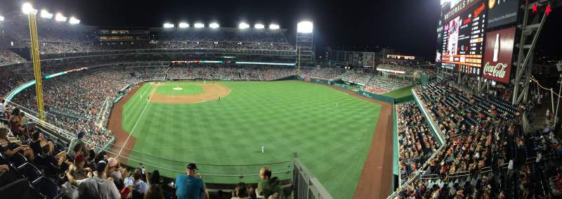 Seating view for Nationals Park Section 236 Row E
