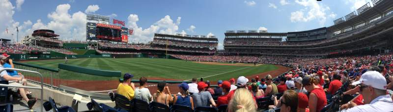 Seating view for Nationals Park Section 110 Row F