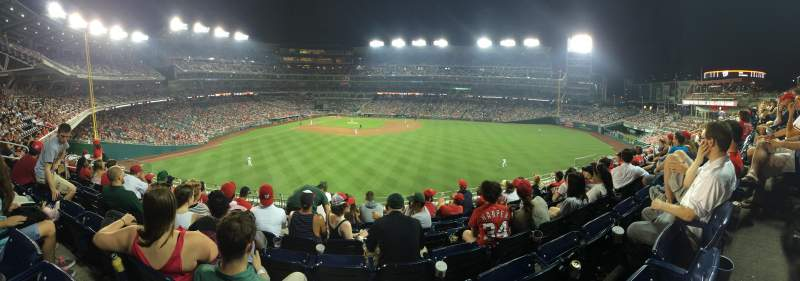 Seating view for Nationals Park Section 243 Row G