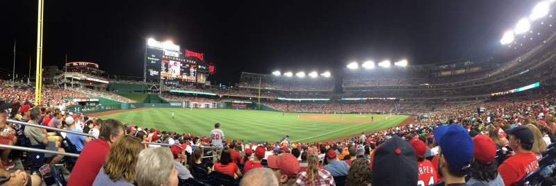 Seating view for Nationals Park Section 109 Row AA