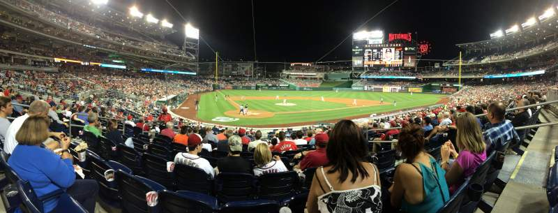 Seating view for Nationals Park Section 125 Row J