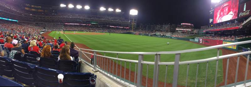 Seating view for Nationals Park Section 137 Row V