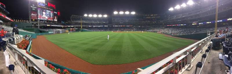 Seating view for Nationals Park Section 104 Row A Seat 6
