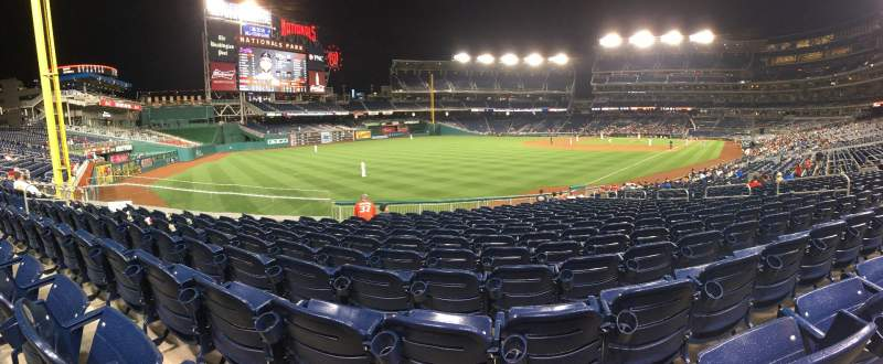 Seating view for Nationals Park Section 108 Row BB Seat 14