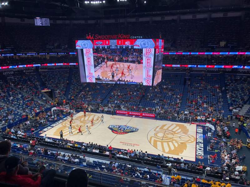 Seating view for Smoothie King Center Section 331 Row 4 Seat 3