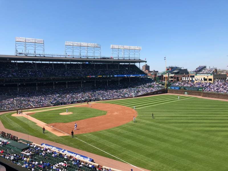Seating view for Wrigley Field Section 330R Row 1 Seat 6