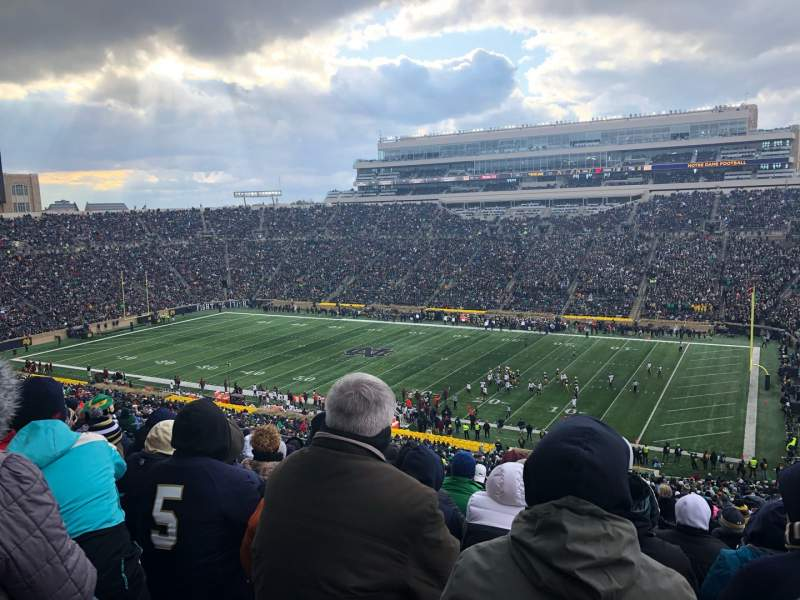 Seating view for Notre Dame Stadium Section 107 Row 25 Seat 16