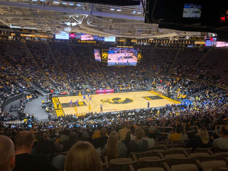 Seating view for Carver-Hawkeye Arena Section BB Row 40 Seat 10