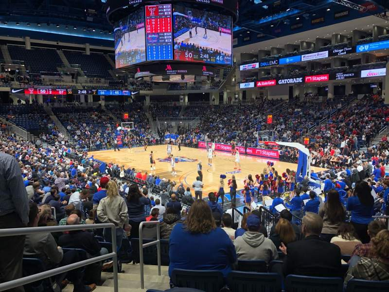 Seating view for Wintrust Arena Section 120 Row M Seat 12