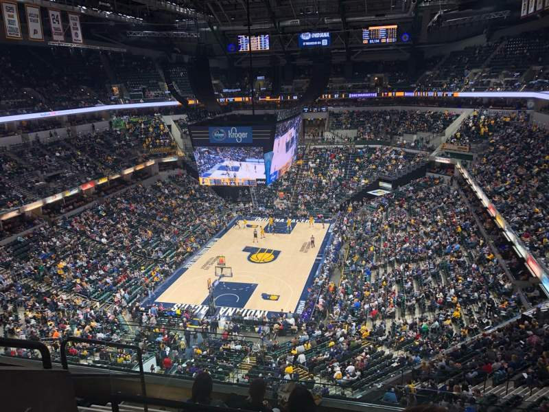 Seating view for Bankers Life Fieldhouse Section 215 Row 6 Seat 15