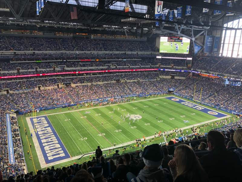 Seating view for Lucas Oil Stadium Section 618 Row 17 Seat 7