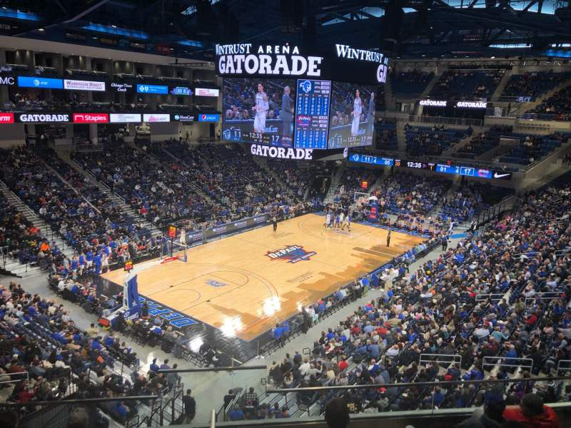 Seating view for Wintrust Arena Section 229 Row F Seat 13