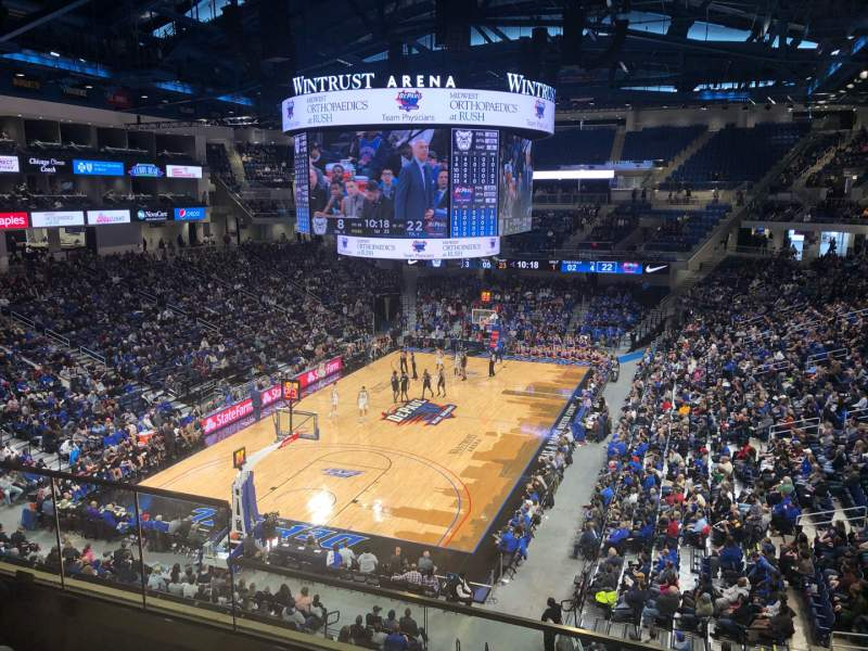 Seating view for Wintrust Arena Section 201 Row D Seat 5